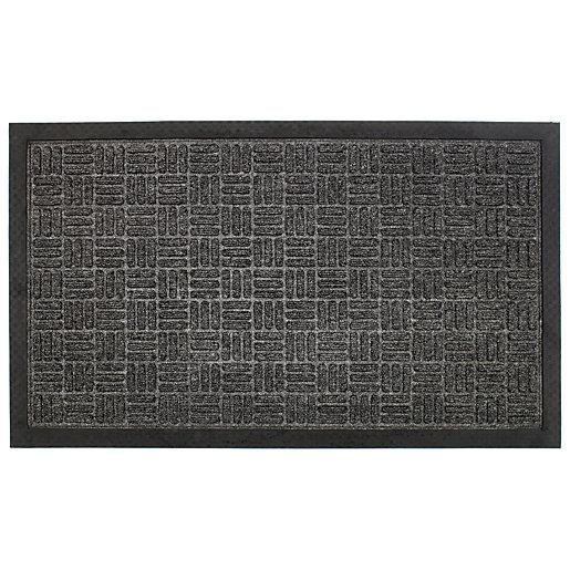 Grey Durable Doormat 45x75cm