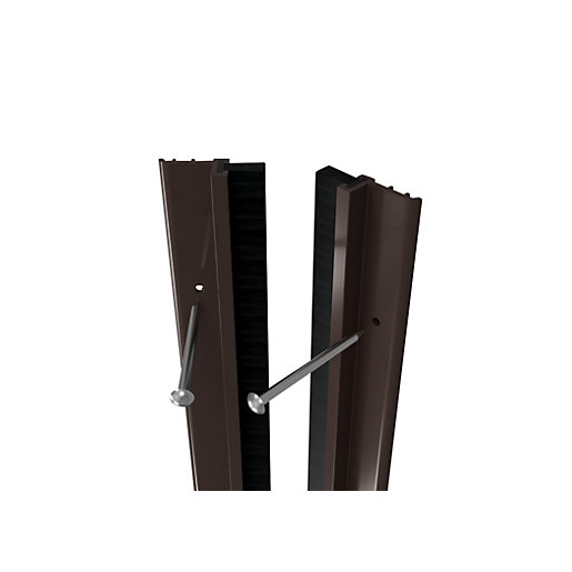 Wickes Full Door PVC Draught Excluder Brown -
