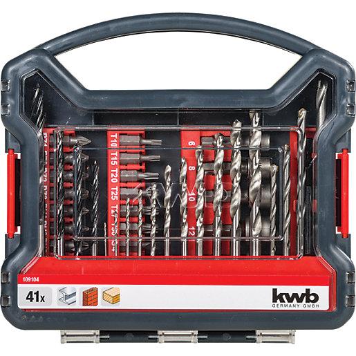 Einhell KWB 41 Piece Combination Drill Bit Set