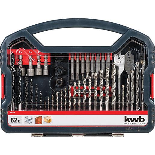 Einhell KWB 62 Piece Combination Drill Bit Set