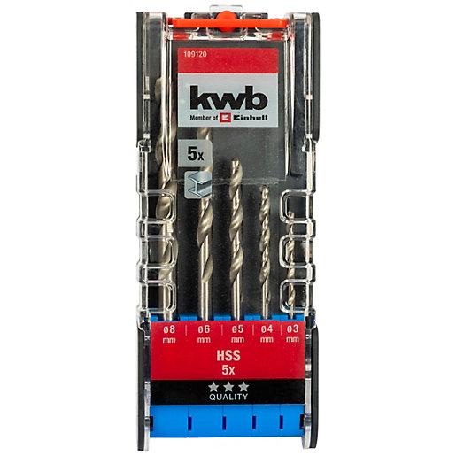 Einhell Kwb 5 Piece Hss Metal Drill Bit