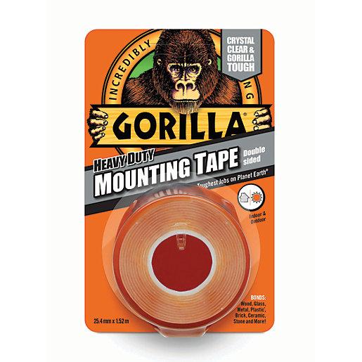 Gorilla Heavy Duty Mounting Tape Clear 25mm x
