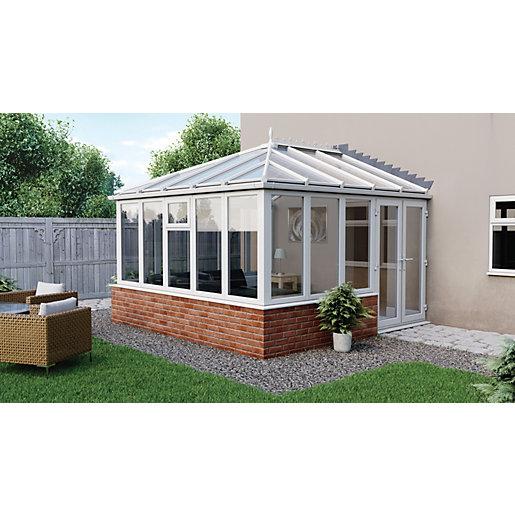 Euramax Edwardian Glass Roof Dwarf Wall Conservatory -