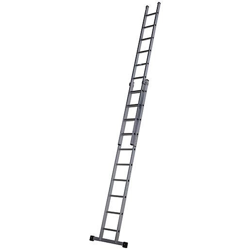 Werner Professional 4.97m 2 Section Aluminium Extension Ladder