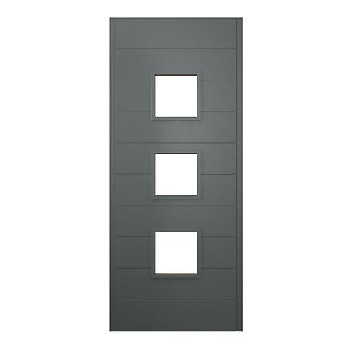 JCI Ultimate Malmo External Hardwood Glazed Door Grey