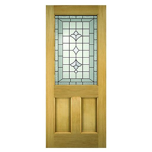 Wickes Avon External Oak Door Glazed 2 Panel