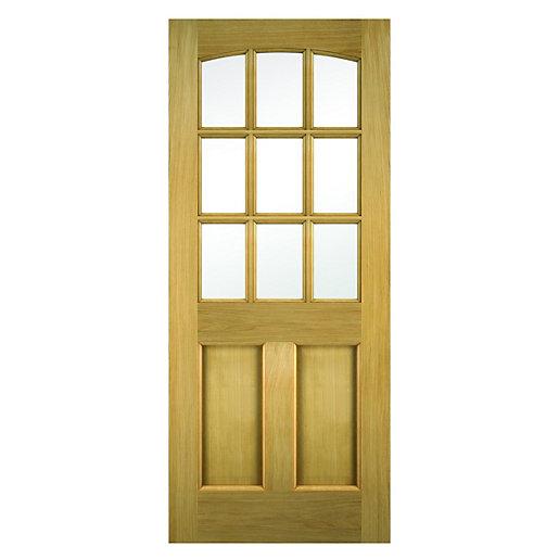 Wickes Georgia External Oak Door Glazed 2 Panel