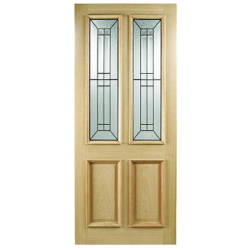 Wickes Malton External Oak Door Glazed 2 Panel