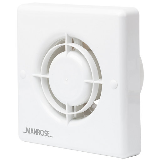 Manrose Bathroom Extractor Fan with Humidistat - White