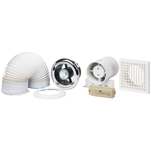 Manrose In-Line Shower Light Kit with Timer -