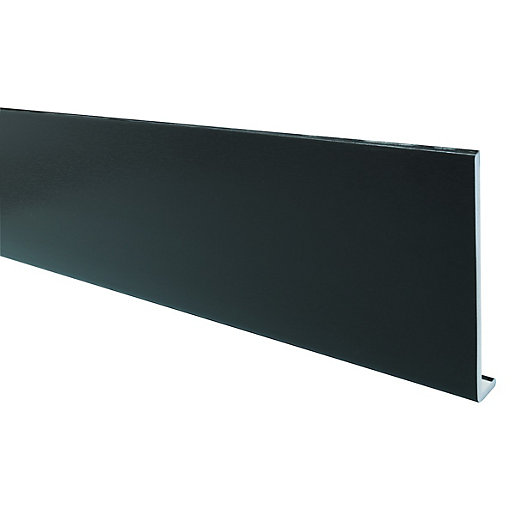 Wickes PVCu Black Fascia Board 9 x 225