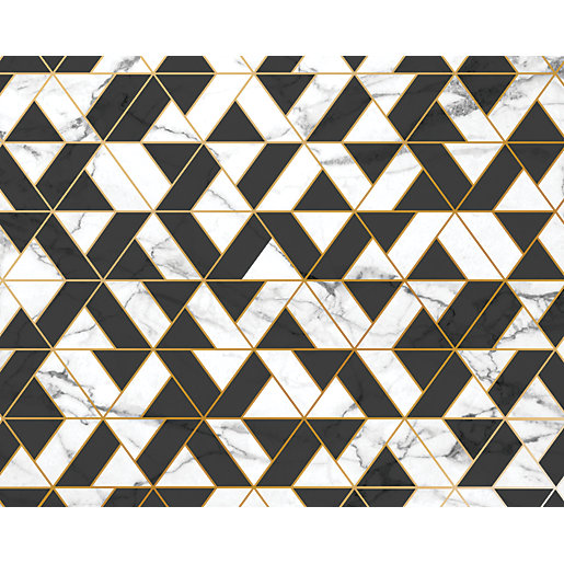 ohpopsi Marbled Textured Geometric Wall Mural