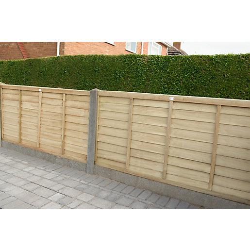 Forest Garden Pressure Treated Overlap Fence Panel -