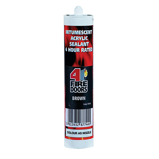 4FireDoors Intumescent & Acoustic Acrylic Sealant - Brown
