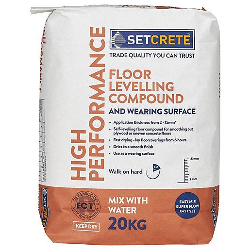 Setcrete High Performance Floor Levelling Compound - 20kg