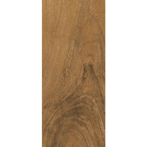 High Gloss Medium Oak Laminate Flooring - Sample