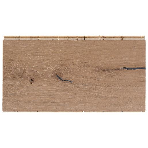 Style City Grey Oak Engineered Wood Flooring Sample