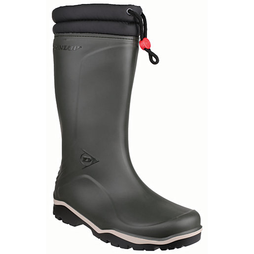 Dunlop Blizzard Winter Safety Wellington Boot - Green