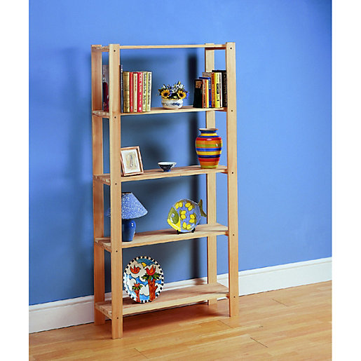 Wickes 5 Tier Pine Shelving Unit