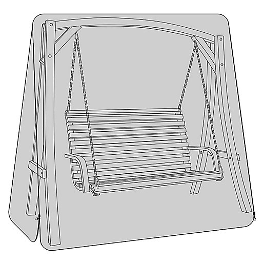 3 Seater Wooden Garden Swing Seat Waterproof Cover