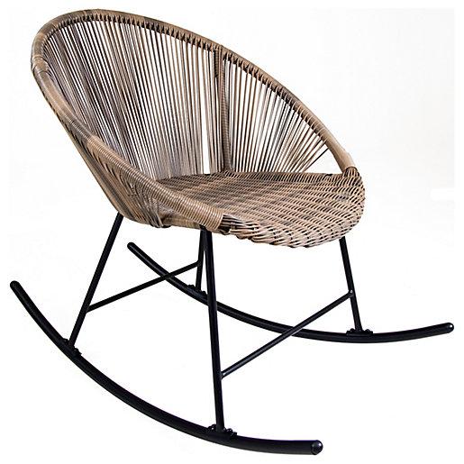 Charles Bentley Bali Garden Rocking Chair - Natural