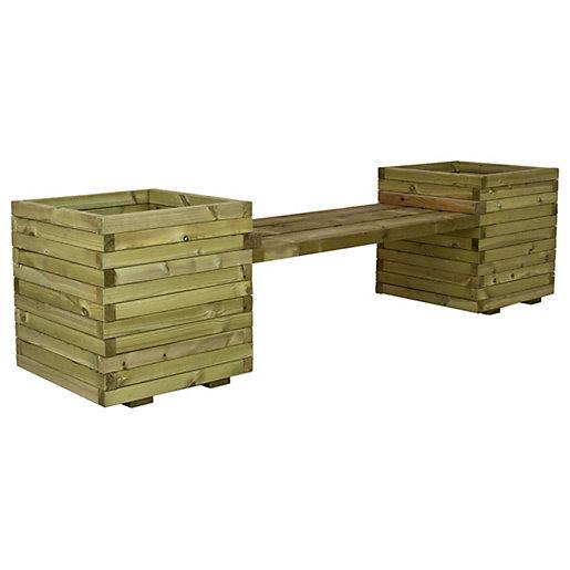 Charles Bentley FSC Timber Windermere Planter Bench