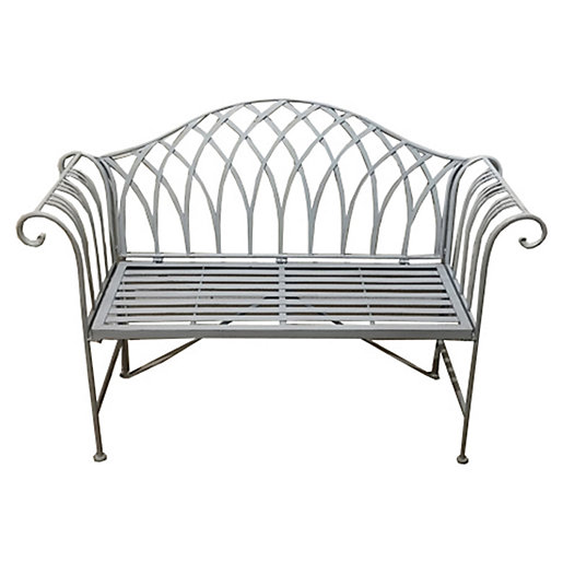 Charles Bentley Wrought Iron Garden, White Wrought Iron Garden Furniture Uk