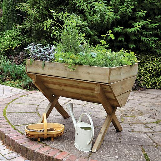 Forest Garden Kitchen Garden Trough - 870mm x