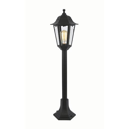 Coast Bianca Black Tall Post Light - 60W