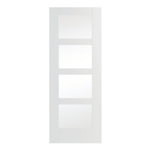 Wickes Marlow White Fully Glazed Softwood 4 Panel