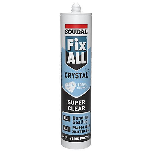 Soudal Fix ALL Crystal 290ml Hybrid Sealant &