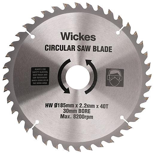 Wickes 40 Teeth Fine Cut Circular Saw Blade 185 X 30mm Wickes Co Uk