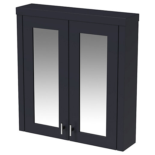 Wickes Hayman Indigo Blue Traditional Mirror Cabinet -