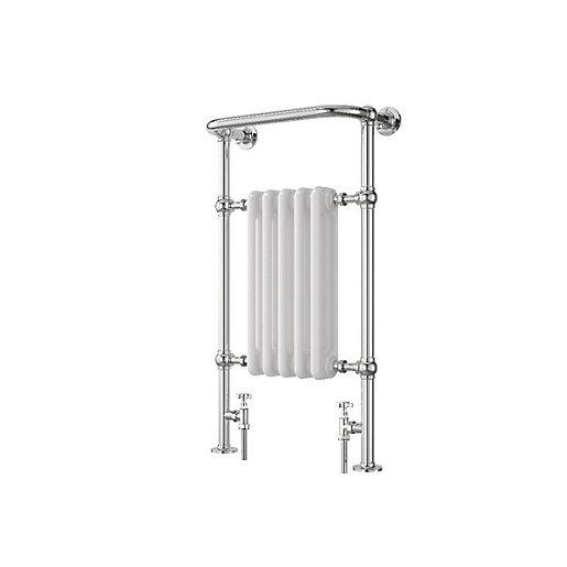 Wickes Etiquette Chrome & White Designer Towel Radiator