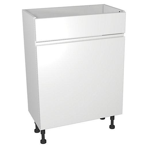 Wickes Hertford Gloss White WC Unit - 600