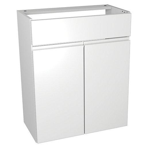 Wickes Hertford White Gloss Floorstanding Vanity Unit -