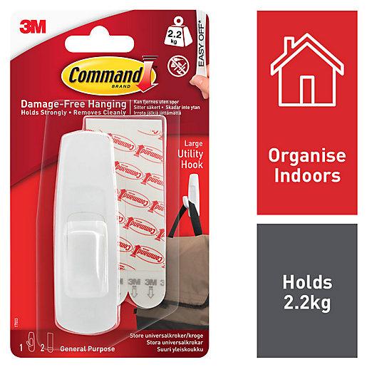 Command White Large Utility Hook