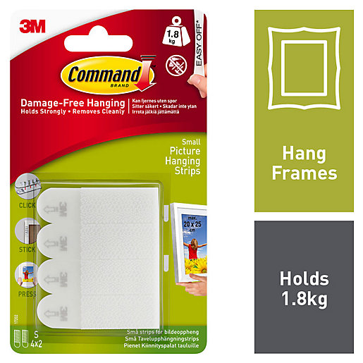 Command White Small Picture Hanging Strips - 4