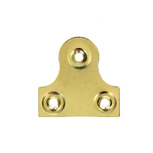 Wickes Glass Plate Plain - Brass 33mm Pack