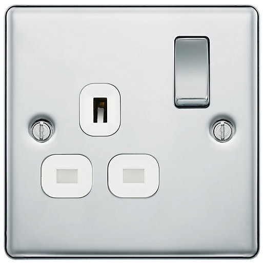 BG 13A Screwed Raised Plate Single Switched Power