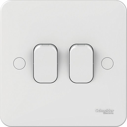Lisse 2 Gang 2 Way Light Switch -