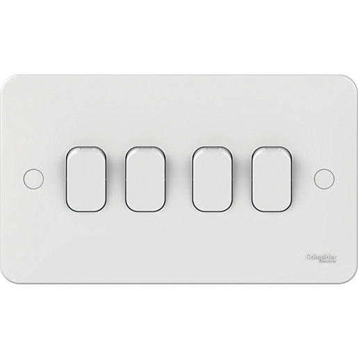 Lisse 4 Gang 2 Way Light Switch -