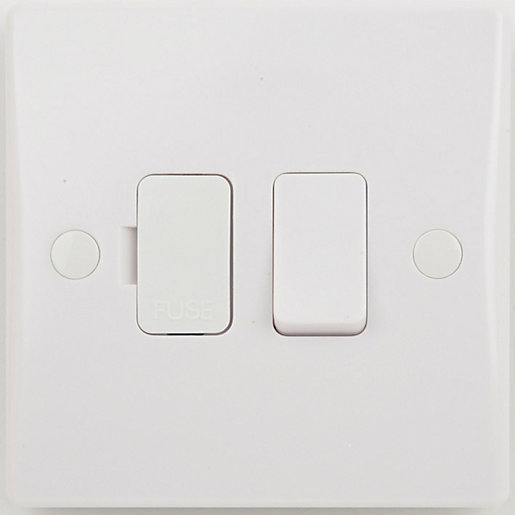 Schneider Ultimate 13A Double Pole Fused Flex Outlet