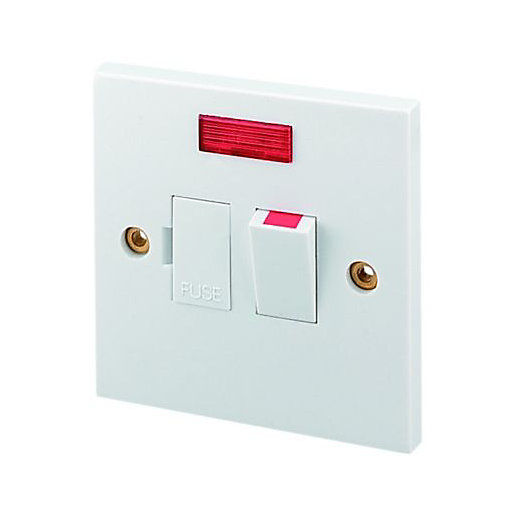 Wickes 13A Fused Switched Spur with Neon | Wickes.co.uk | Wickes Electrical Fuse Box |  | Wickes