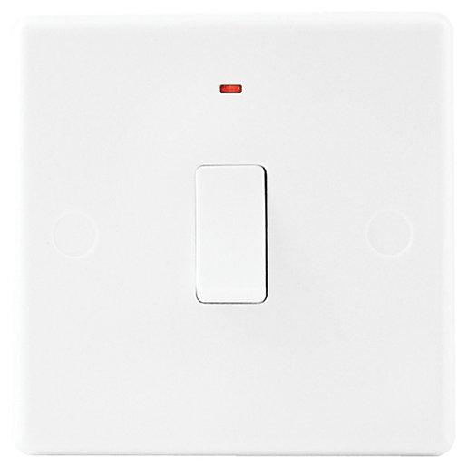 Wickes 20A Control Switch Slimline White