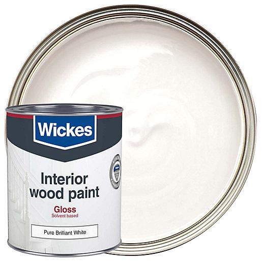 Wickes Non Drip Gloss Pure Brilliant White 750ml
