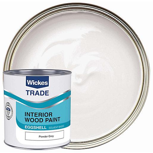 Wickes Trade Eggshell Powder Grey 1L