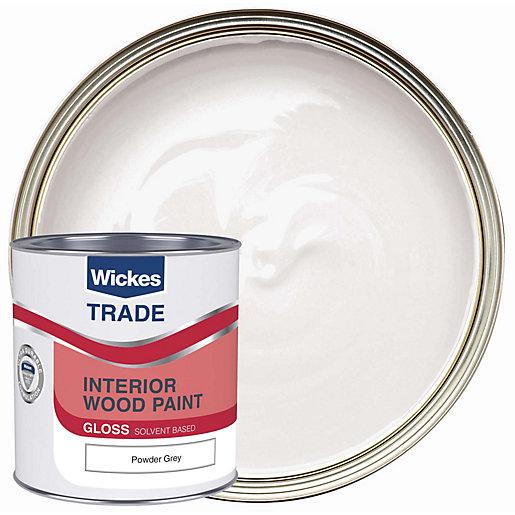 Wickes Trade Liquid Gloss Powder Grey 1L