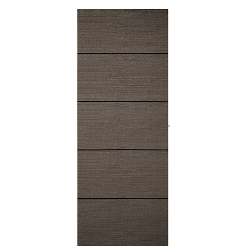 Wickes Milan Charcoal Grey Real Wood 5 Panel
