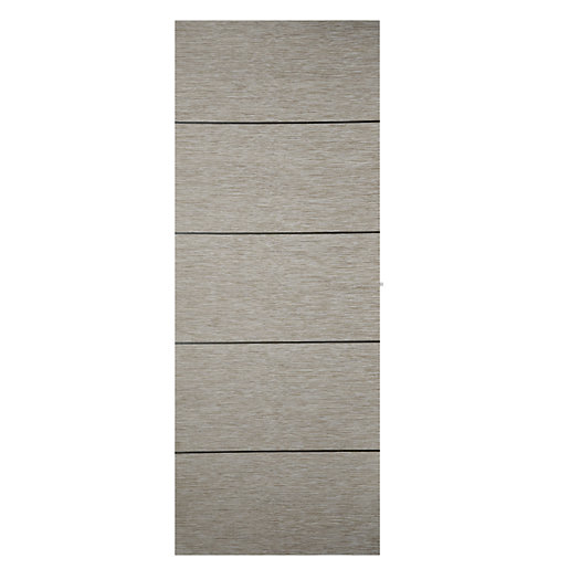 Wickes Milan Light Grey Real Wood 5 Panel